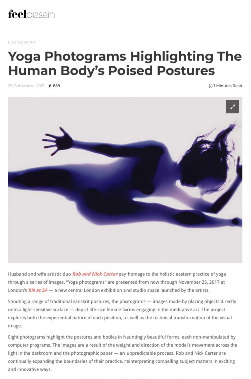 Rob and Nick Carter - Highlighting the human body's poised postures, Feel Desain magazine (online) (Italy) · © Copyright 2020