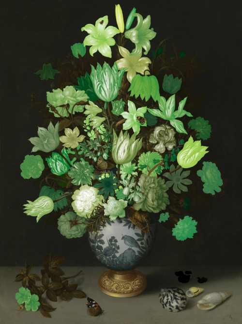 Rob and Nick Carter - RN899, Flowers in a Wan-Li Vase, 2013 · © Copyright 2019