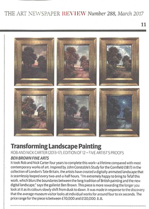 Rob and Nick Carter - Transforming Landscape Painting, The Art Newspaper · © Copyright 2020