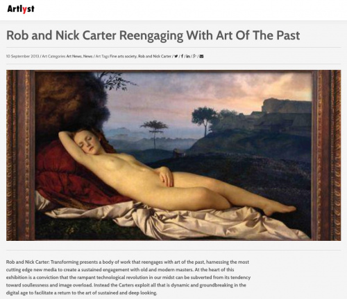 Rob and Nick Carter - Rob and Nick Carter Reengaging With Art Of The Past, Artlyst.com · © Copyright 2020