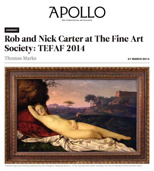 Rob and Nick Carter - Rob and Nick Carter at The Fine Art Society: TEFAF 2014, Apollo magazine (online) · © Copyright 2020
