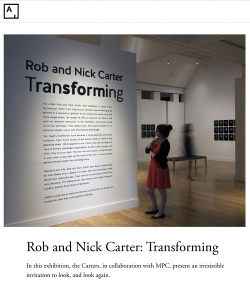 Rob and Nick Carter - Rob and Nick Carter: Transforming, Artsy.net (online) · © Copyright 2020