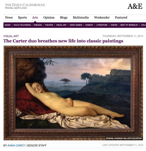 Rob and Nick Carter - The Carter duo breathes new life into classic paintings, The Daily Californian (online) · © Copyright 2020