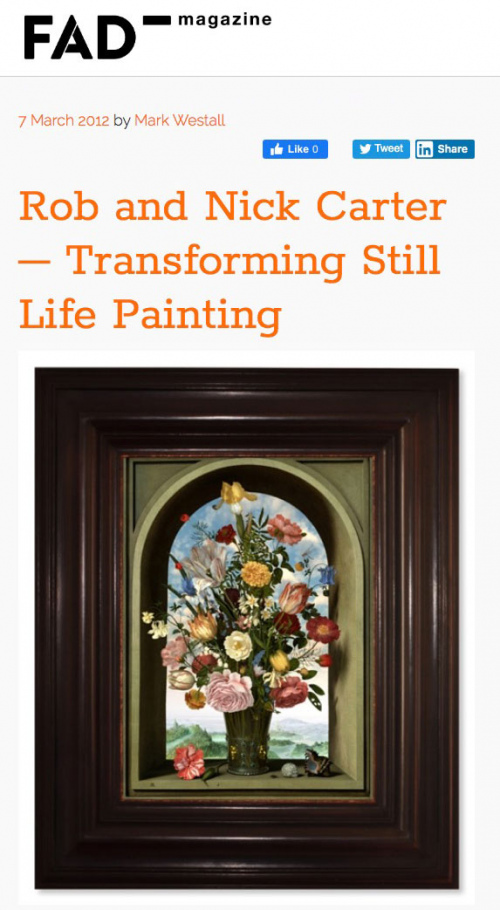 Rob and Nick Carter - Rob and Nick Carter – Transforming Still Life Painting, FAD magazine (online) · © Copyright 2020