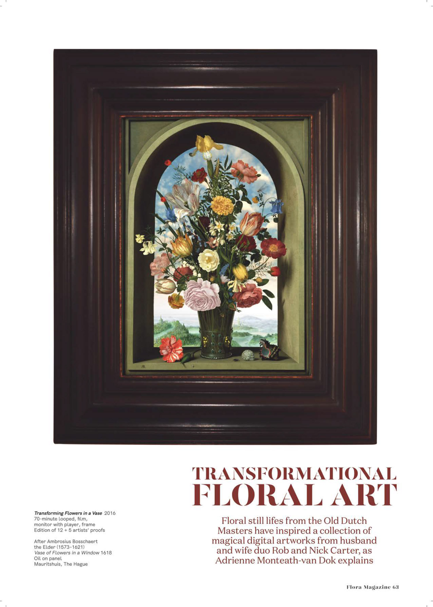 Rob and Nick Carter - Transformational Floral Art, Flora Magazine · © Copyright 2020
