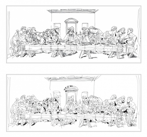 Rob and Nick Carter - RN998, Chinese Whispers, The Last Supper after Andy Warhol (1986), 2014 · © Copyright 2019
