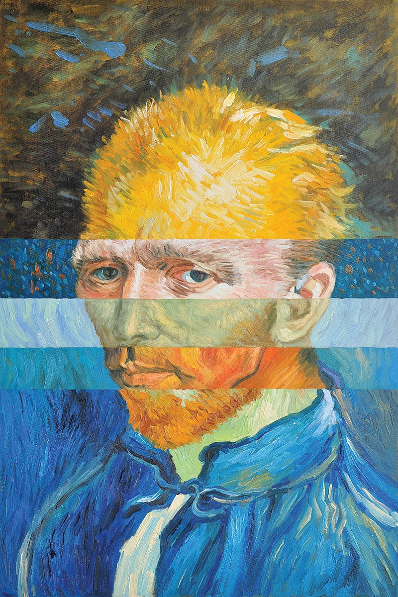 Rob and Nick Carter - RN974, Composite Portrait after Vincent van Gogh I, 2013 · © Copyright 2019