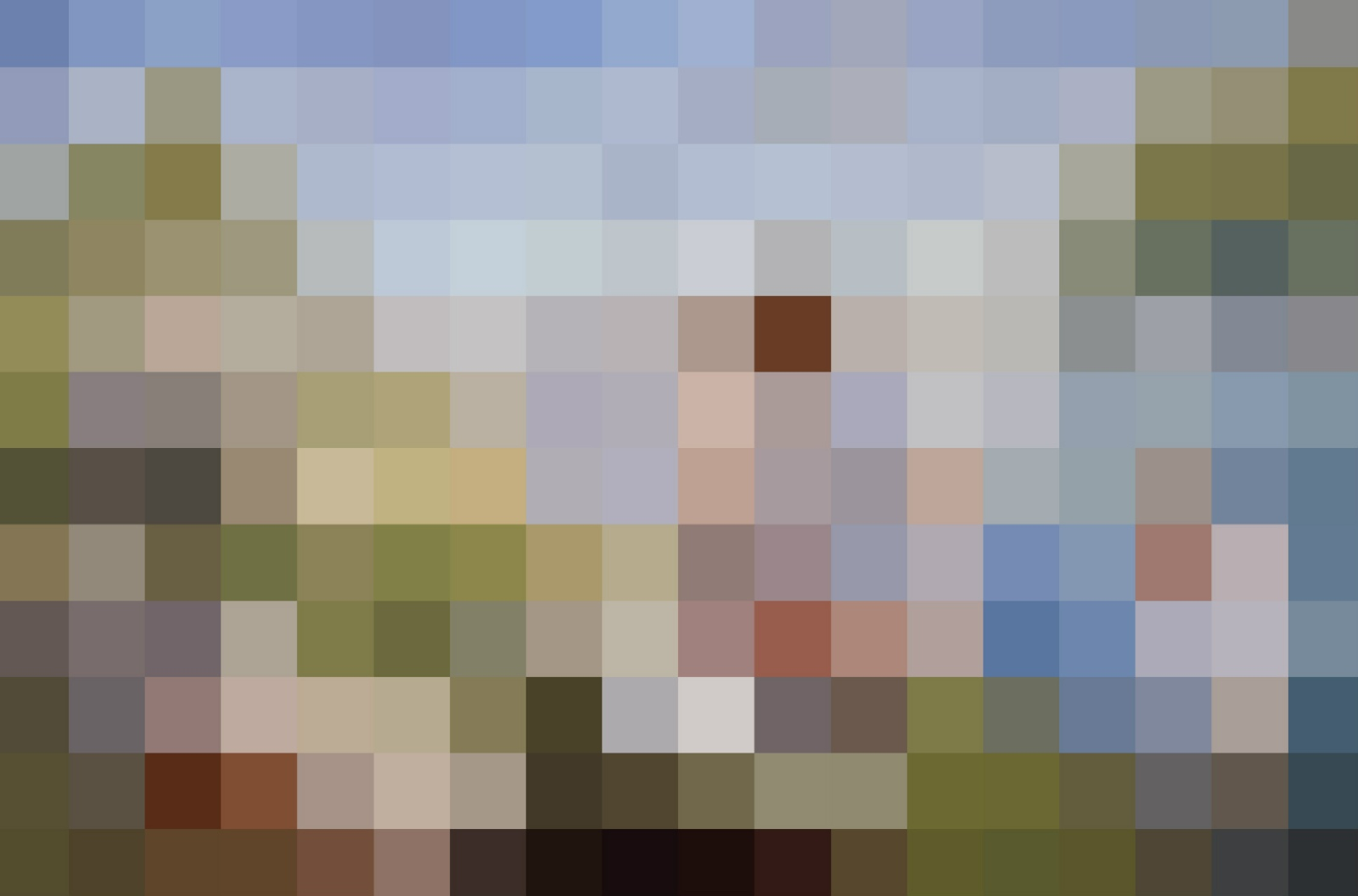 Rob and Nick Carter - RN910, 1884, Pixelated Painting, 2013 · © Copyright 2019