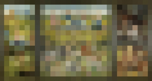 Rob and Nick Carter - RN901, 1480-1505, Pixelated Painting, 2013 · © Copyright 2020