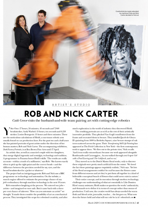 Rob and Nick Carter - Artist's Studio, Country and Town House magazine · © Copyright 2020