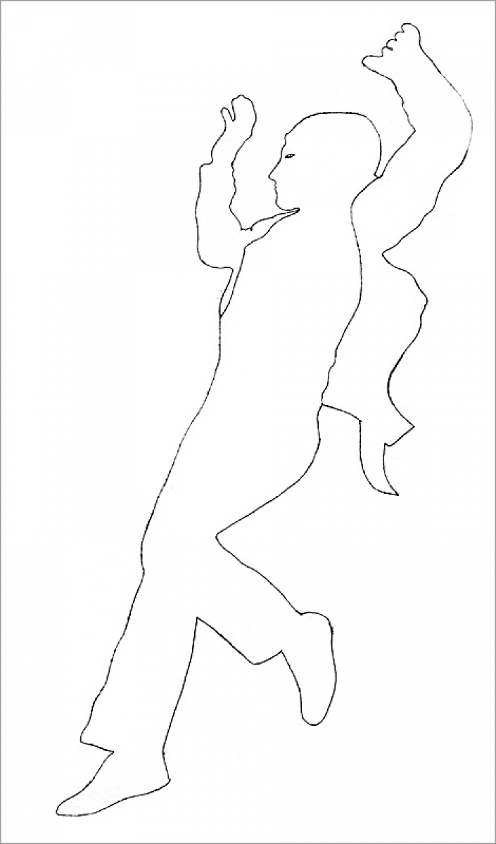 Rob and Nick Carter - RN967, Dancer II, Neon Line Drawing after Andy Warhol (c.1953), 2013 · © Copyright 2018