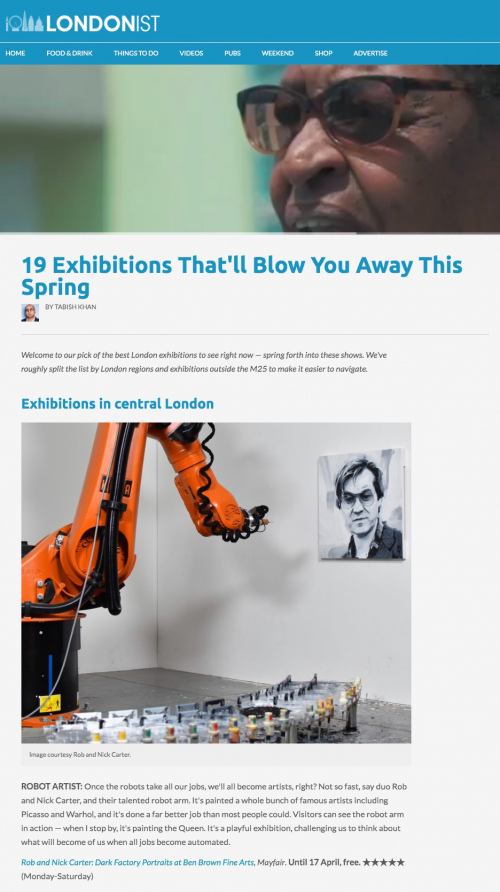 Rob and Nick Carter - 19 Exhibitions That'll Blow You Away This Spring, The Londonist (online) · © Copyright 2020