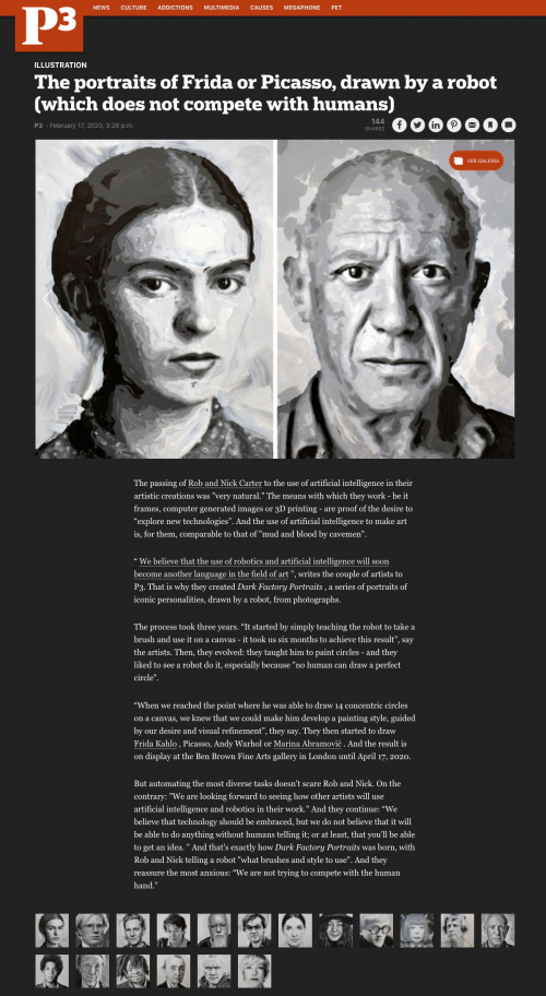 Rob and Nick Carter - The portraits of Frida or Picasso, drawn by a robot · © Copyright 2020