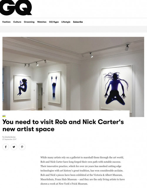 Rob and Nick Carter - You need to visit Rob and Nick Carter's new artist space, GQ magazine (online) · © Copyright 2020