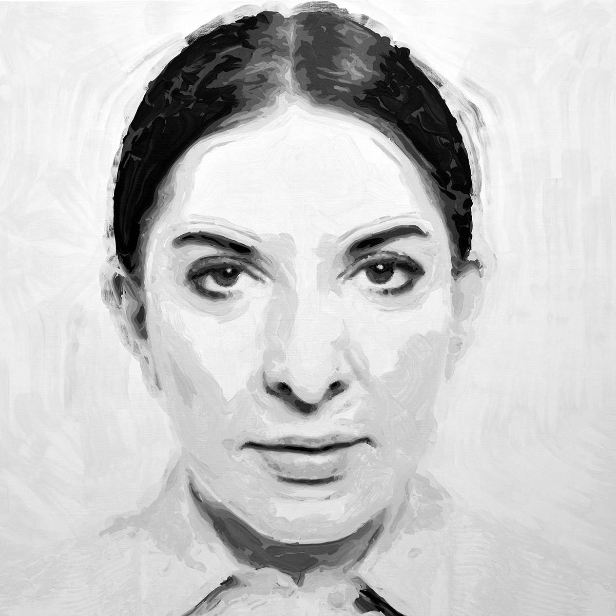 Rob and Nick Carter - RN1257, Marina Abramovic - Robot Painting - Painting time: 31:33:15 - Stroke count: 8,352, 5-7 January 2020 · © Copyright 2020