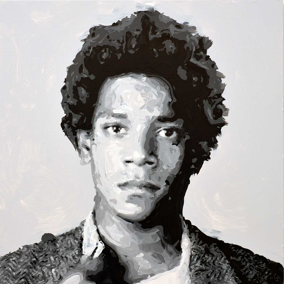 Rob and Nick Carter - RN1266, Jean-Michel Basquiat - Robot Painting - Painting time: 14:41:15 - Stroke count: 6,713, 2-3 December 2019 · © Copyright 2020